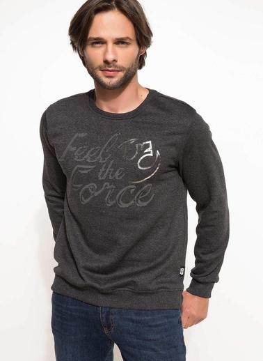 DeFacto Star Wars Lisanslı Sweatshirt Antrasit